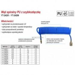 Wąż spiralny PU z szybkozłączką